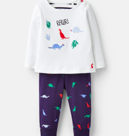 Joules Dinosaur Tee and Pant Set