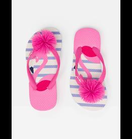 Joules Flip Flop - White Flamingo