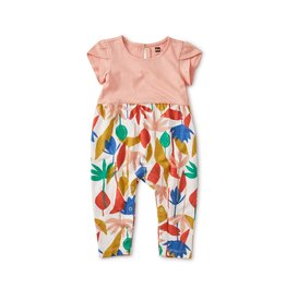 Tea Collection Tulip Sleeve Romper - Egyptian Floral