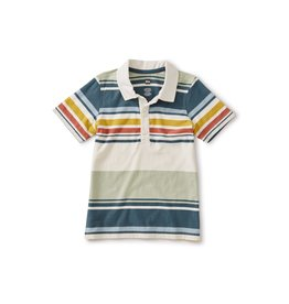 Tea Collection Striped Polo - Desert Sage