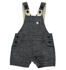 Me + Henry Black Woven Dungaree Shortall