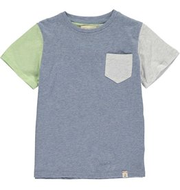 Me + Henry Blue Colour Block Tee