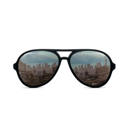 FCTRY Hipsterkid Classics Aviator Baby Sunglasses Black, (0-2)