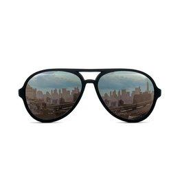 FCTRY Hipsterkid Classics Aviator Kids Sunglasses Black, (3-6)