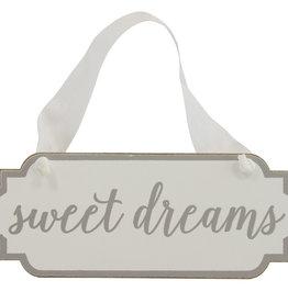 Mud Pie White Sweet Dreams Door Hanger