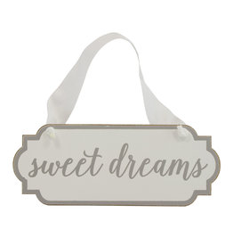 Mud Pie White Sweet Dreams Door Hanger