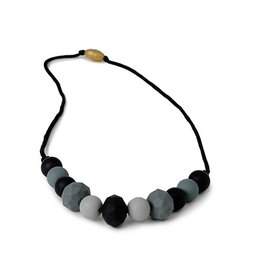 Chewbeads Chelsea Necklace, Black Greys