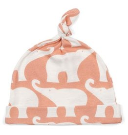 Milkbarn Kids Organic Knotted Hat - Rose Elephant