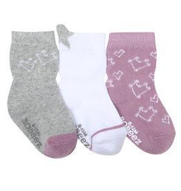 Robeez 3 Pk Socks, Dream Among the Stars Grey/Lavendar