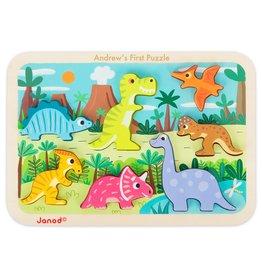 Janod Chunky Puzzle - Dinosaurs