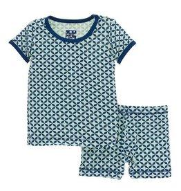 5 Years Kickee Pants Little Boys Print Short Sleeve Pajama Set with Shorts Natural Mayan Pattern
