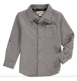 Me + Henry Brown Stretch Jersey Shirt, Boy 3-4Y