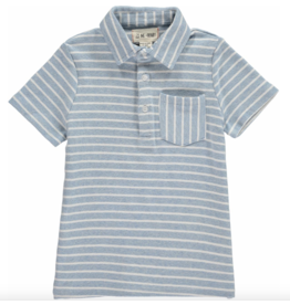 Me + Henry Blue Striped Polo Shirt, Boys 3-4Y