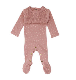 Loved Baby Organic Smocked Footie Mauve