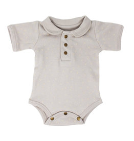 Loved Baby Polo Bodysuit Light Gray Dots