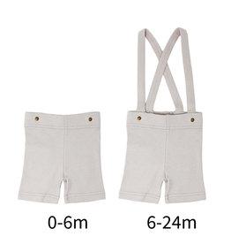 Loved Baby Suspender Shorts Light Gray