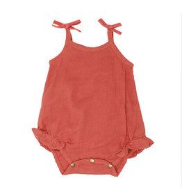 Loved Baby Organic Muslin Tie-Shoulder Bodysuit Melon