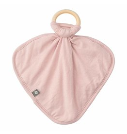 Kyte Baby Lovey in Blush with Removable Wooden Teething Ring