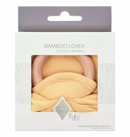 Kyte Baby Lovey in Honey with Removable Wooden Teething Ring