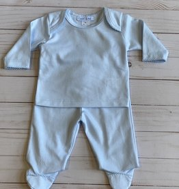 Bebe a Moi Blue Pima Top and Pant Set