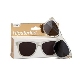 FCTRY Hipsterkid Golds Wayfarer Baby Sunglasses, Polarized Clear (0-2y)