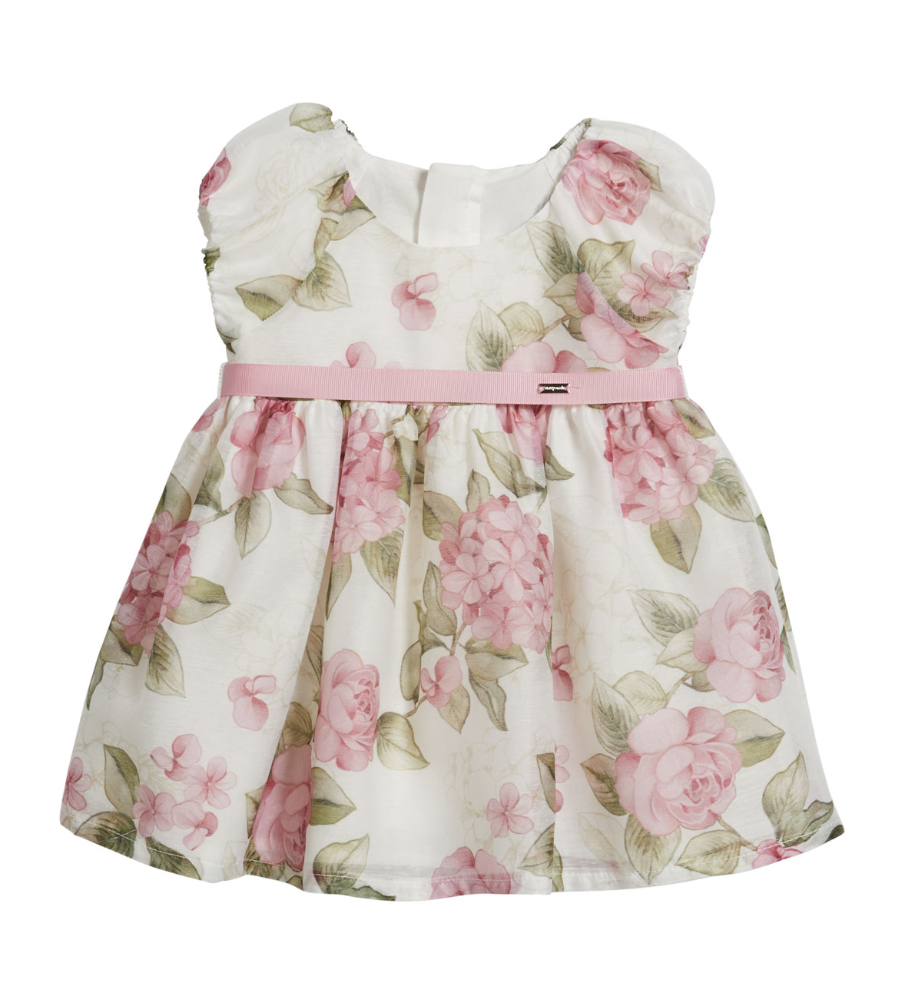 Mayoral Dress Baby Girl - Roses Pink