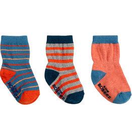 Robeez 3 Pk Socks, Jack