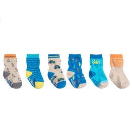 Robeez 6 Pk Socks, Surf