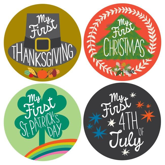 First Holiday Stickers Lucy Darling