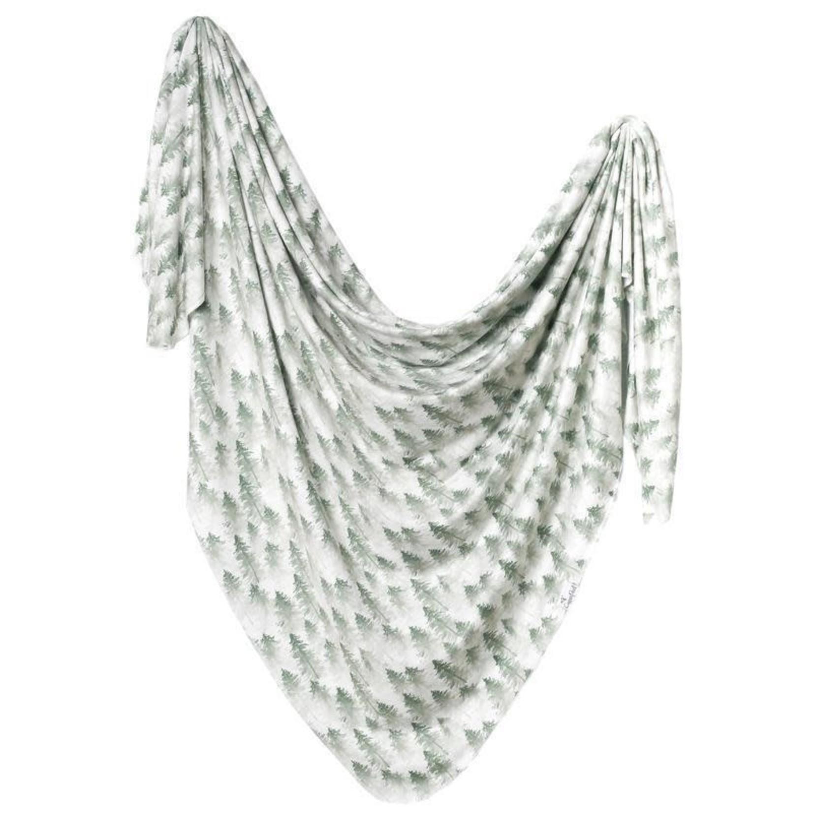 Copper Pearl Knit Blanket - Evergreen