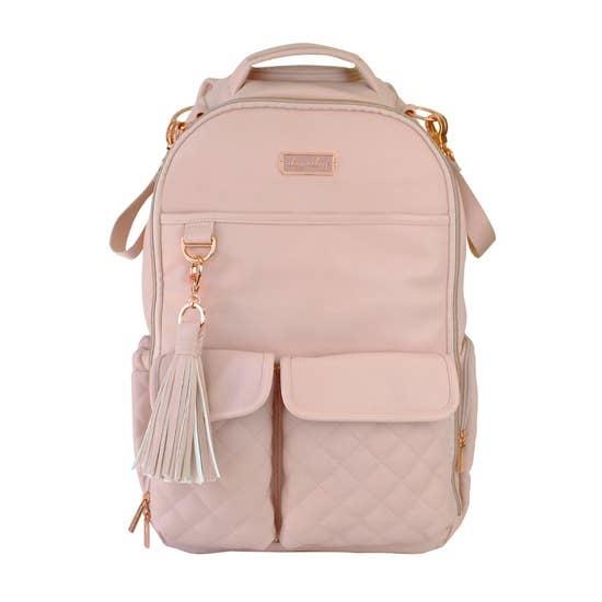 Itzy Ritzy Boss Diaper Bag Backpack Blush Crush