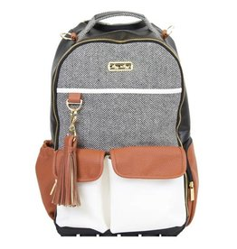 Itzy Ritzy Boss Diaper Bag Backpack Coffee & Cream