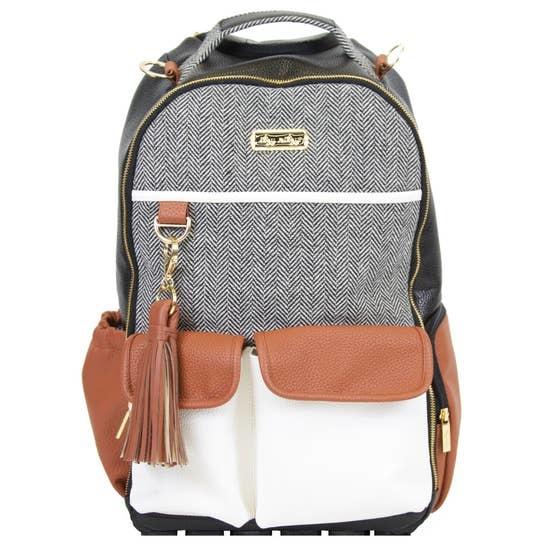 Itzy Ritzy Boss Diaper Bag Backpack Coffee & Cream