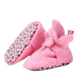 Zutano Cozie Fleece Gripper Bootie -  Hot Pink 12M