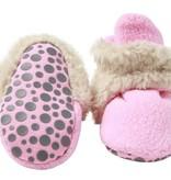 Zutano Cozie Furry Gripper Bootie - Hot Pink 24M