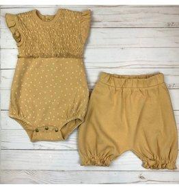 Loved Baby Smocked S/S Bodysuit Honey Dots + Bloomer Set