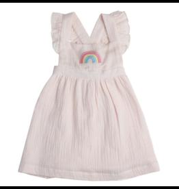 Angel Dear Organic Dress And Bloomer, Rainbow Muslin