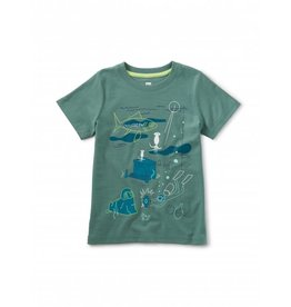 Tea Collection Glow Sunken Treasures Tee - Sagebrush