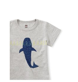 Tea Collection Whale Shark Baby Tee - Med Heather Grey