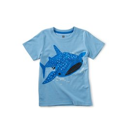 Tea Collection Tattle Whale Shark Tee - Blue Orchid
