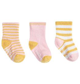 Robeez 3 Pk Socks, Daily Danielle - Pink 12-24m