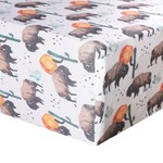 Copper Pearl Premium Crib Sheet Bison