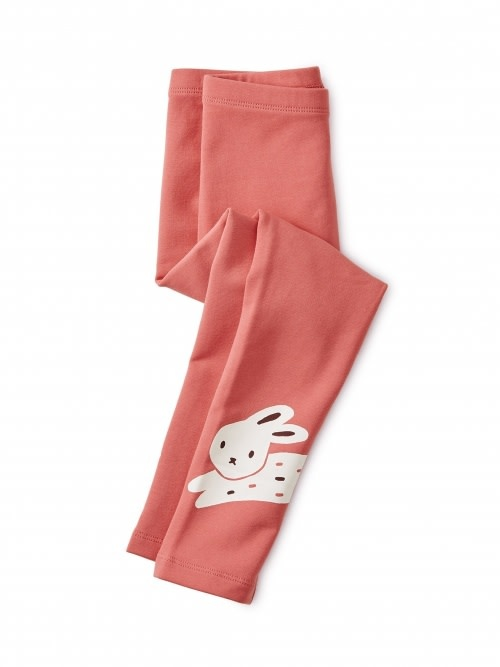 Tea Collection Bunny Rabbit Cozy Leggings Size 2