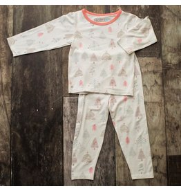 Bestaroo Two Piece Modal Pajama Set Holiday Tree  6Y