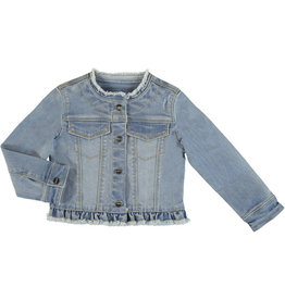 Mayoral Mayoral Denim Jean Jacket Girls - Light Wash 5T