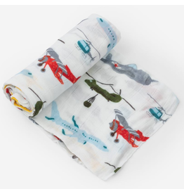 Little Unicorn Deluxe Swaddle - Air Show