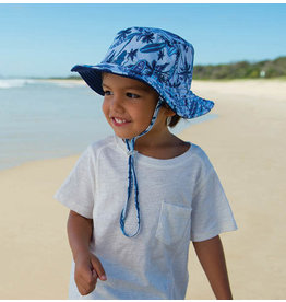 Millymook and Dozer Baby Boys Bucket Sun Hat - Deep Sea Blue L (12-24m)