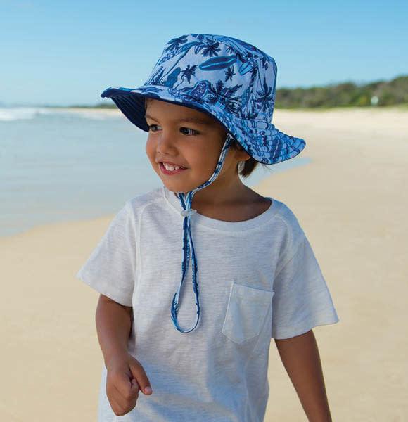 Millymook and Dozer Baby Boys Bucket Sun Hat - Deep Sea Blue L (12-24m)