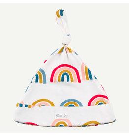 Oliver and Rain Knot Hat, Rainbow Print Pima Cotton Small NB-6M