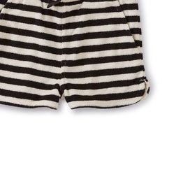 Tea Collection Stripe Terry Cloth Jet Black Shorts